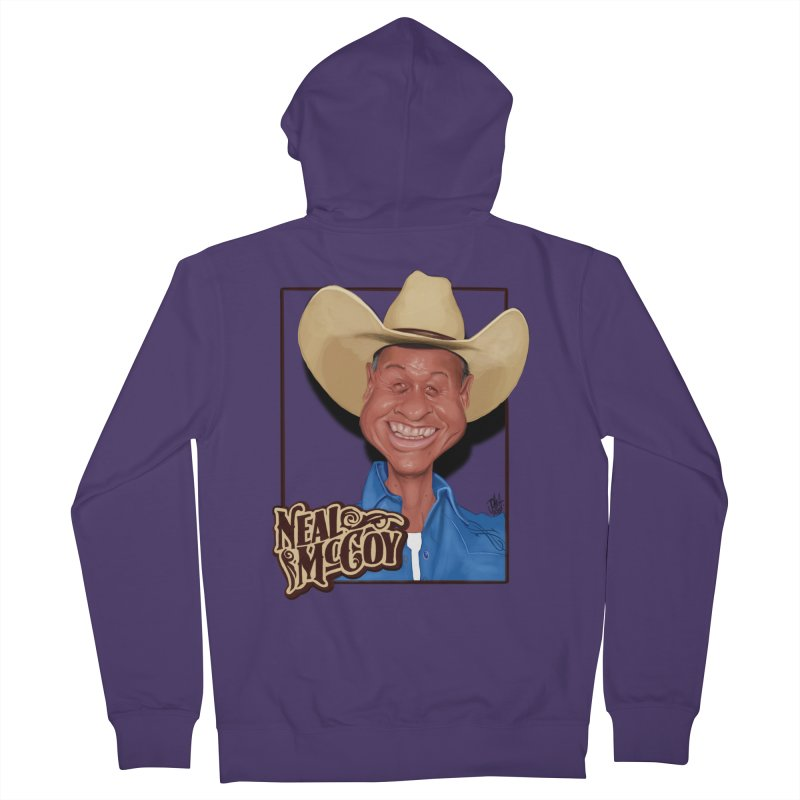 Country Legends Neal McCoy Women's Zip-Up Hoody by goofyink's Artist Shop