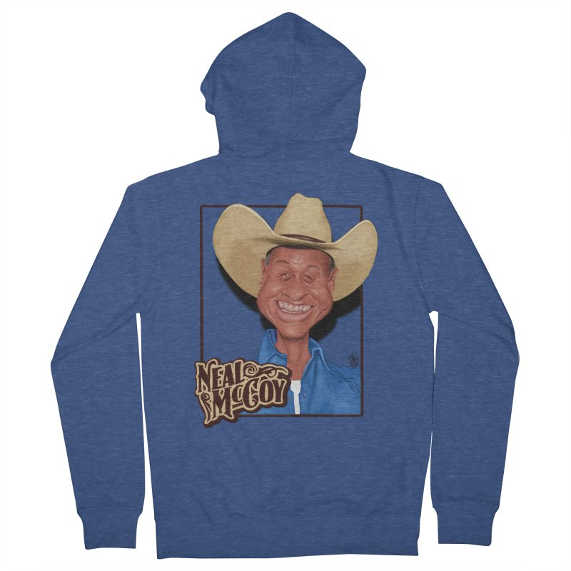 Country Legends Neal McCoy Men's French Terry Zip-Up Hoody by goofyink's Artist Shop