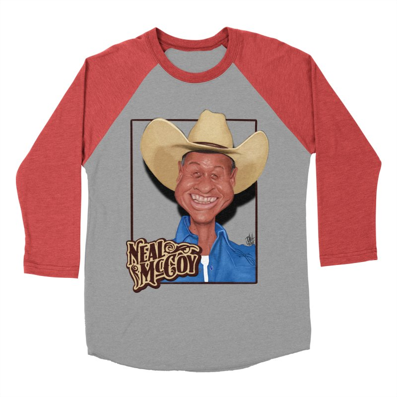 Country Legends Neal McCoy Men's Baseball Triblend Longsleeve T-Shirt by goofyink's Artist Shop