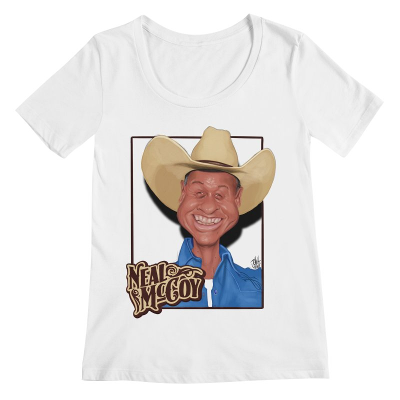 Country Legends Neal McCoy Women's Regular Scoop Neck by goofyink's Artist Shop