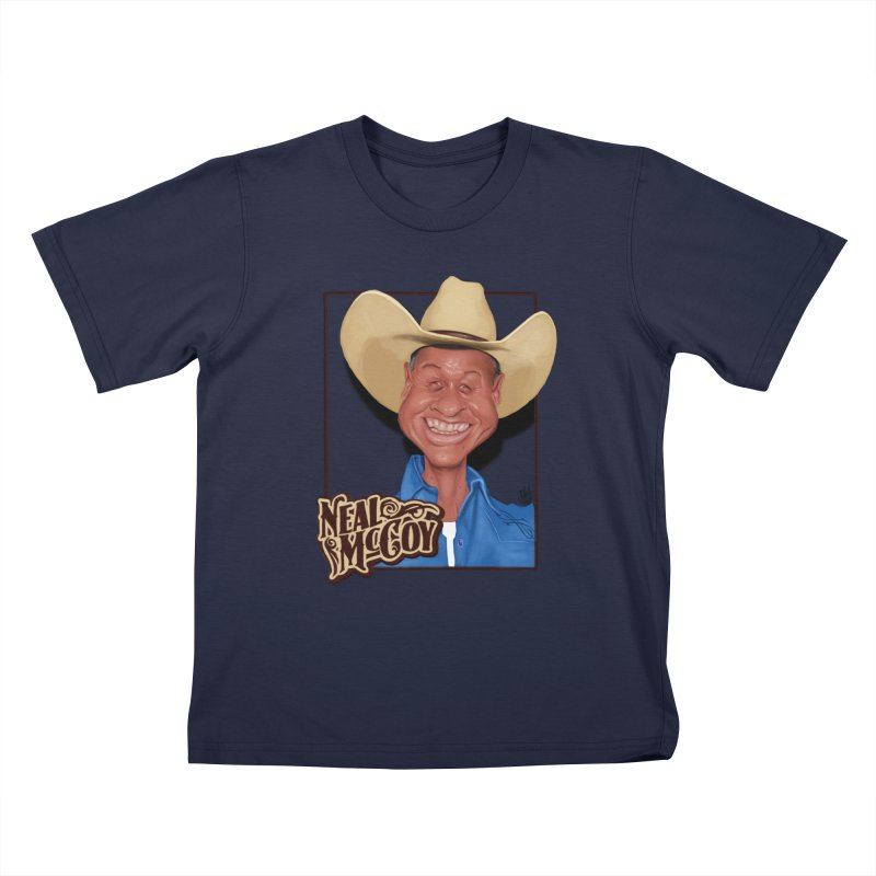 Country Legends Neal McCoy Kids T-Shirt by goofyink's Artist Shop