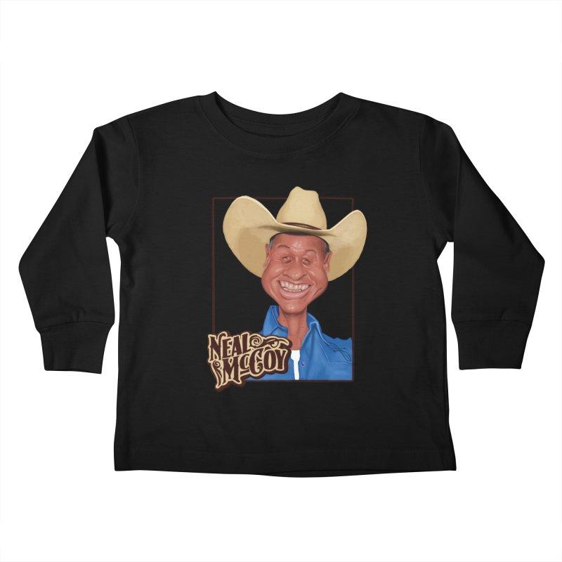 Country Legends Neal McCoy Kids Toddler Longsleeve T-Shirt by goofyink's Artist Shop
