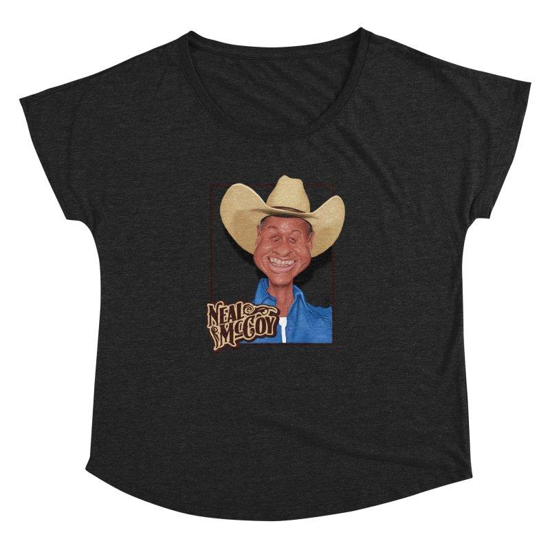 Country Legends Neal McCoy Women's Dolman Scoop Neck by goofyink's Artist Shop