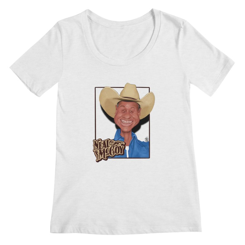 Country Legends Neal McCoy Women's Regular Scoop Neck by goofyink's Artist Shop