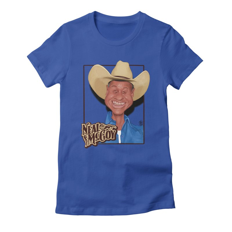 Country Legends Neal McCoy Women's Fitted T-Shirt by goofyink's Artist Shop