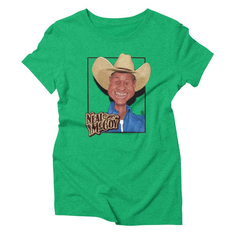 Country Legends Neal McCoy Women's Triblend T-Shirt by goofyink's Artist Shop
