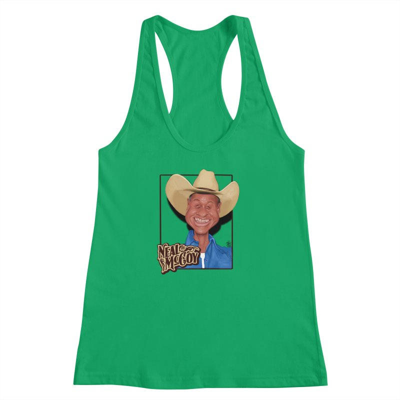 Country Legends Neal McCoy Women's Racerback Tank by goofyink's Artist Shop