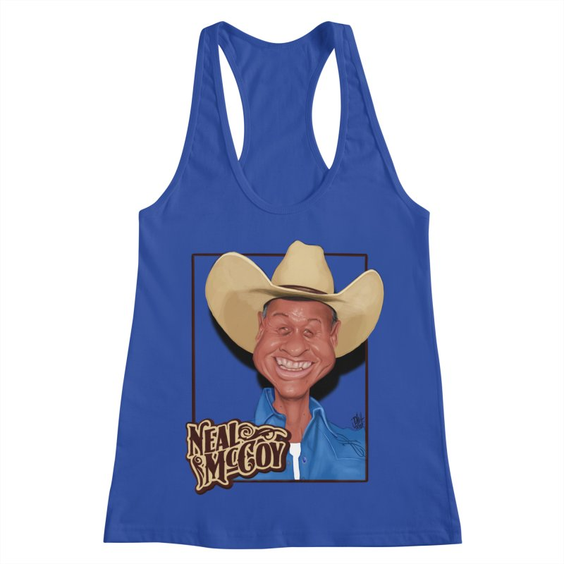 Country Legends Neal McCoy Women's Racerback Tank by goofyink's Artist Shop