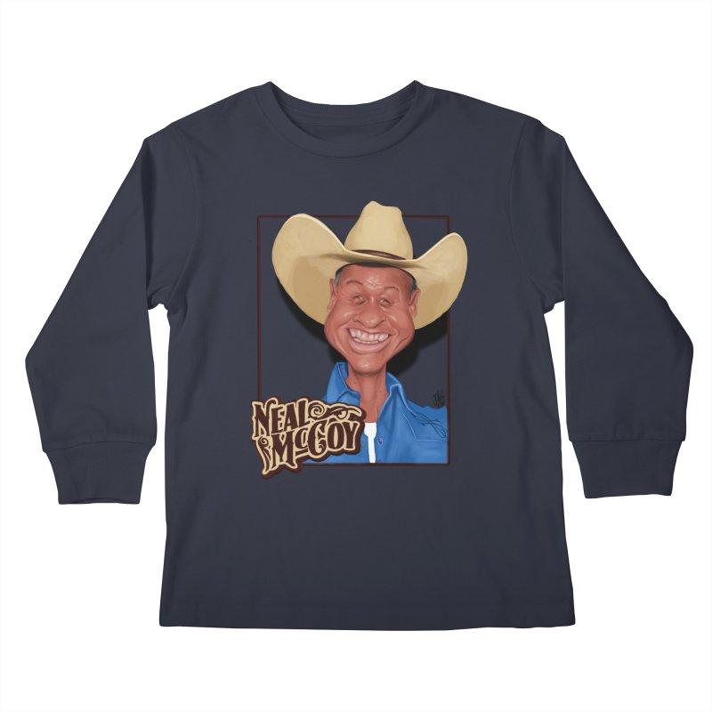 Country Legends Neal McCoy Kids Longsleeve T-Shirt by goofyink's Artist Shop