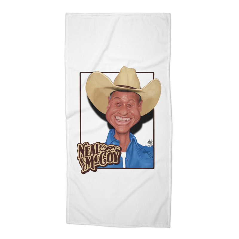 Country Legends Neal McCoy Accessories Beach Towel by goofyink's Artist Shop