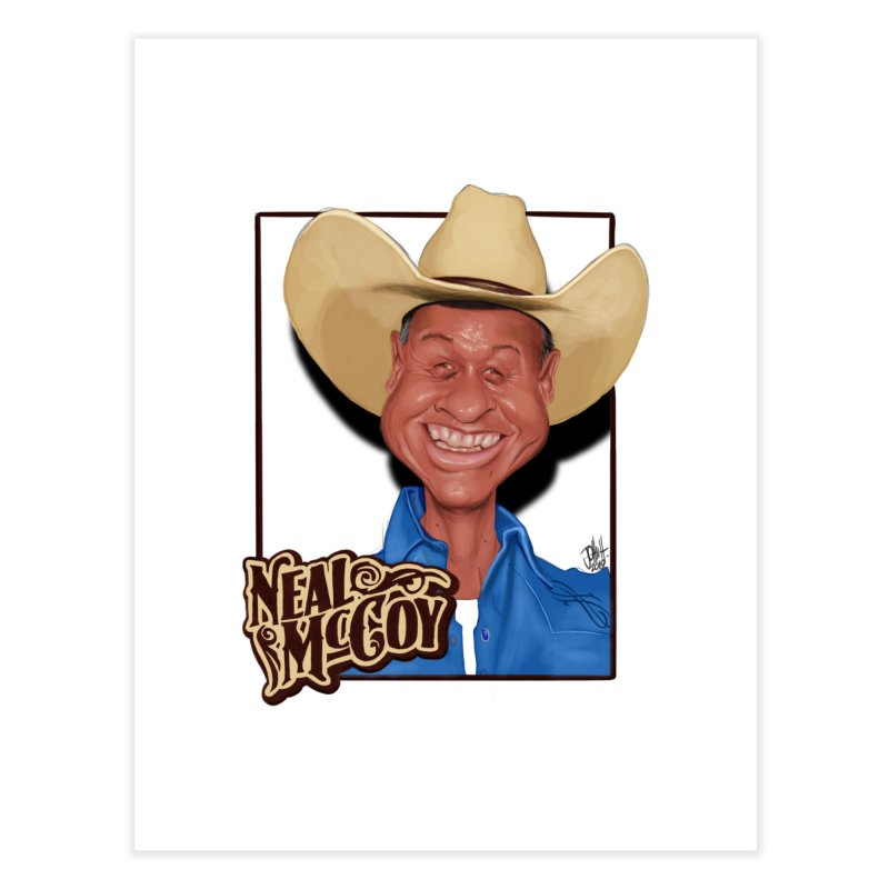 Country Legends Neal McCoy Home Fine Art Print by goofyink's Artist Shop