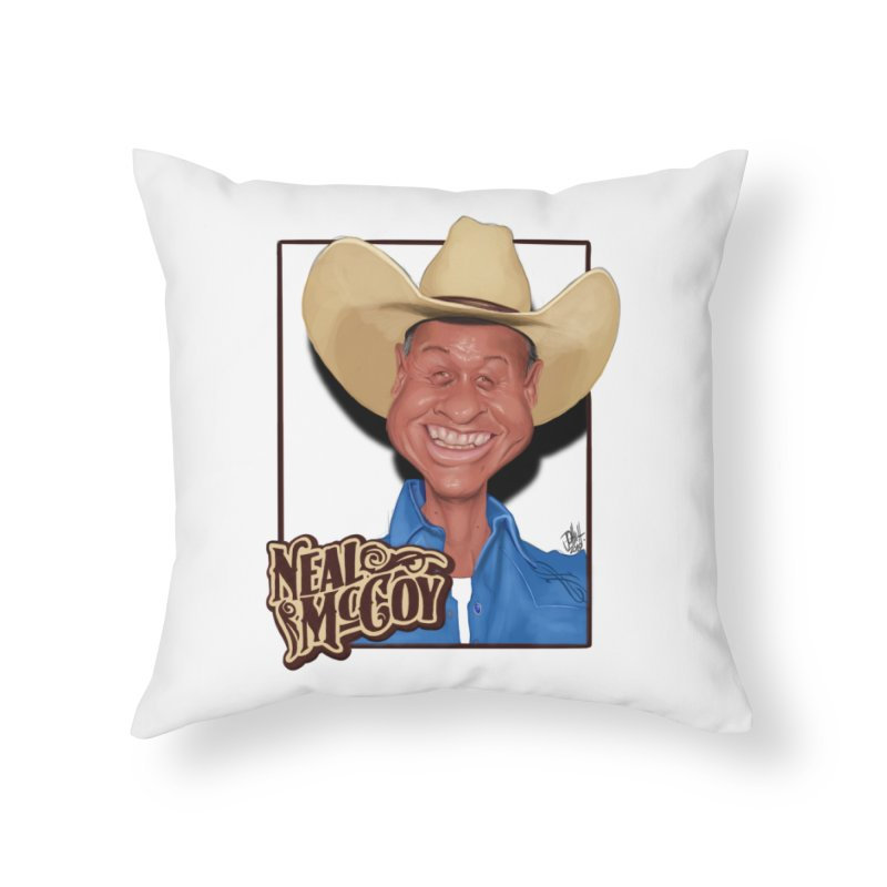 Country Legends Neal McCoy Home Throw Pillow by goofyink's Artist Shop