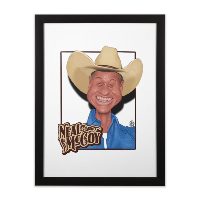 Country Legends Neal McCoy Home Framed Fine Art Print by goofyink's Artist Shop