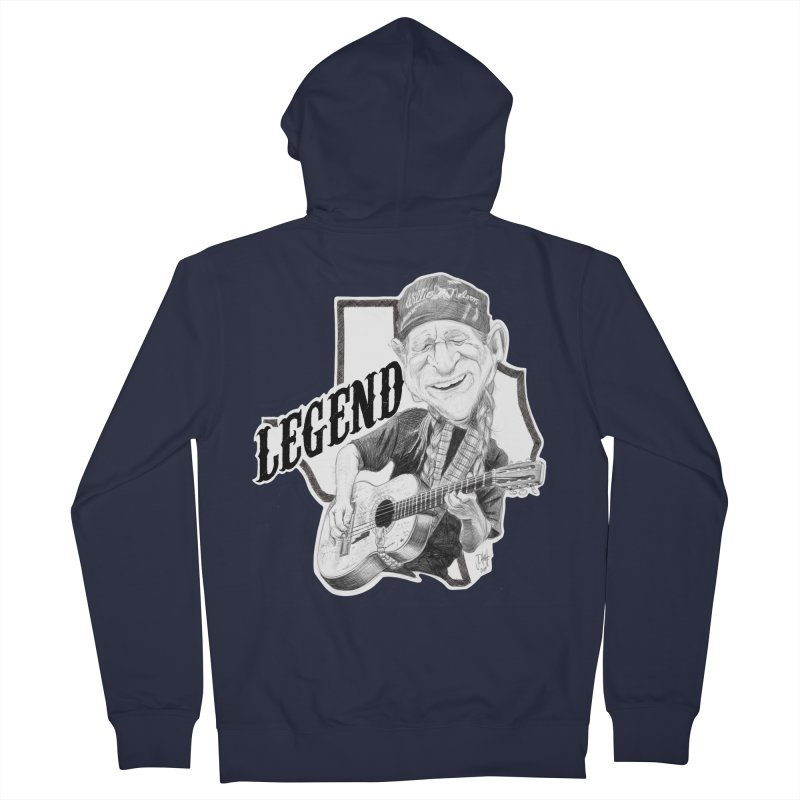 Willie Men's French Terry Zip-Up Hoody by goofyink's Artist Shop