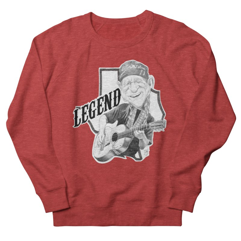 Willie Men's French Terry Sweatshirt by goofyink's Artist Shop