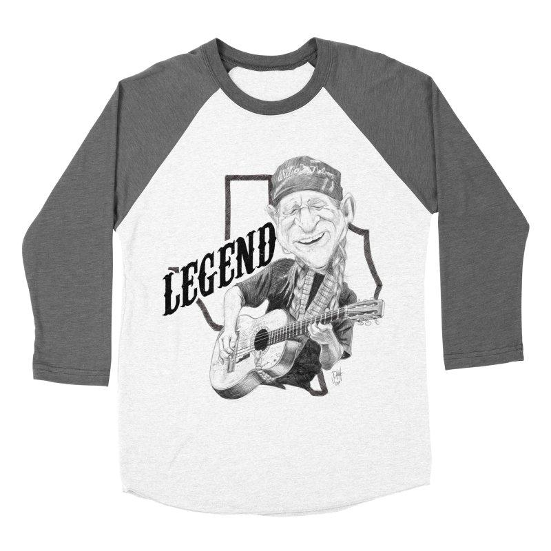 Willie Men's Baseball Triblend Longsleeve T-Shirt by goofyink's Artist Shop