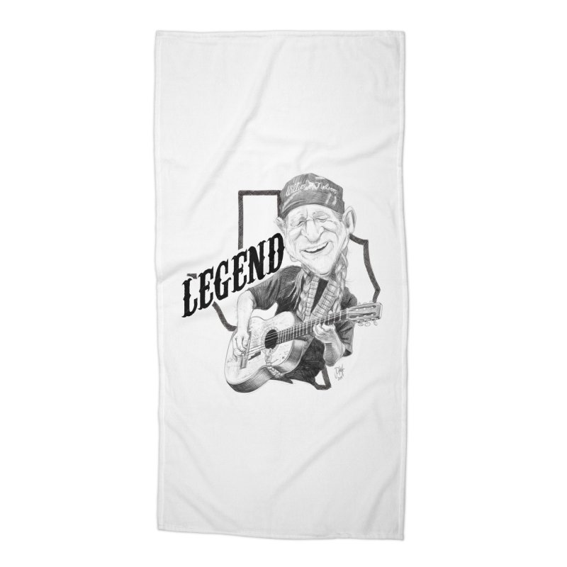 Willie Accessories Beach Towel by goofyink's Artist Shop