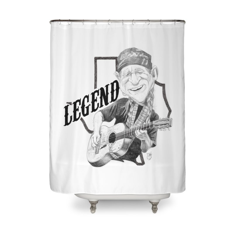 Willie Home Shower Curtain by goofyink's Artist Shop