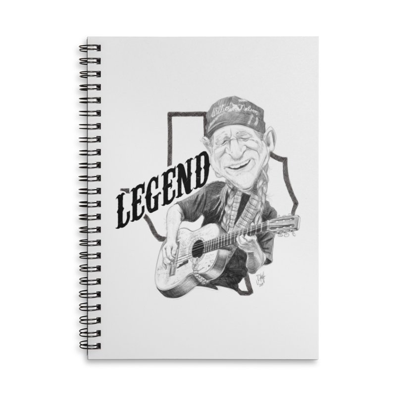 Willie Accessories Lined Spiral Notebook by goofyink's Artist Shop