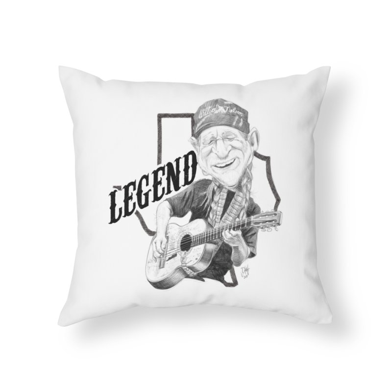 Willie Home Throw Pillow by goofyink's Artist Shop