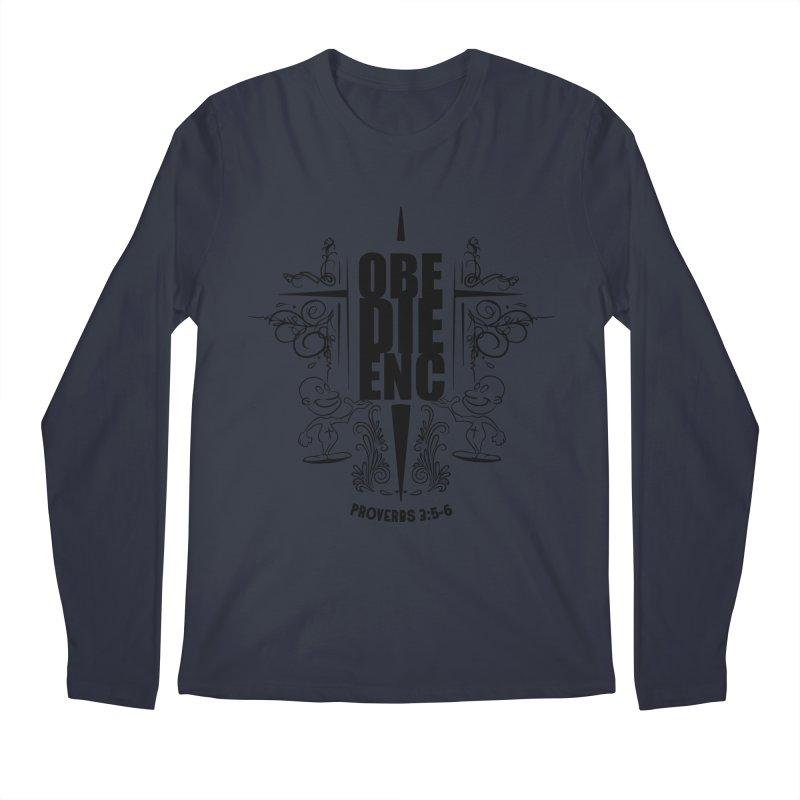 Obedience Proverbs 3:5-6 Men's Longsleeve T-Shirt by goofyink's Artist Shop