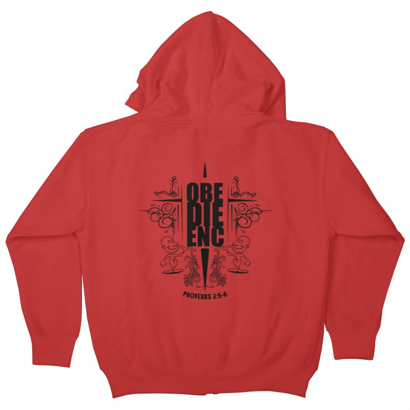 Obedience Proverbs 3:5-6 Kids Zip-Up Hoody by goofyink's Artist Shop