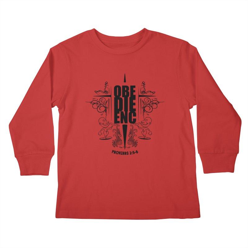 Obedience Proverbs 3:5-6 Kids Longsleeve T-Shirt by goofyink's Artist Shop