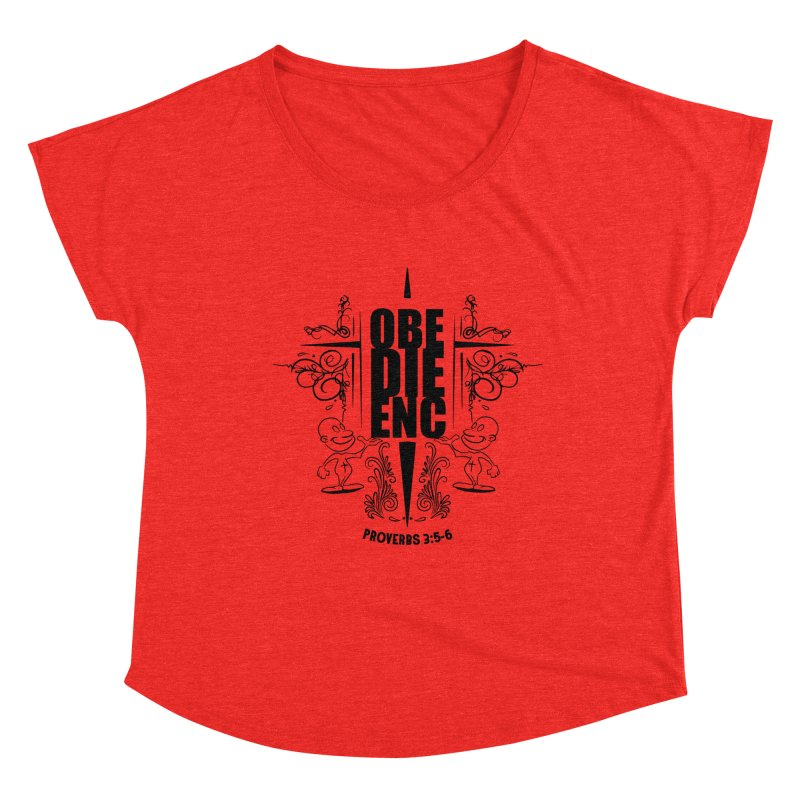 Obedience Proverbs 3:5-6 Women's Scoop Neck by goofyink's Artist Shop