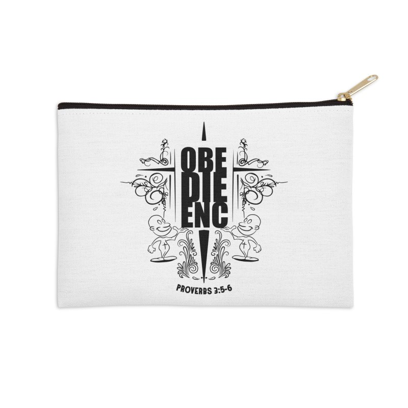 Obedience Proverbs 3:5-6 Accessories Zip Pouch by goofyink's Artist Shop