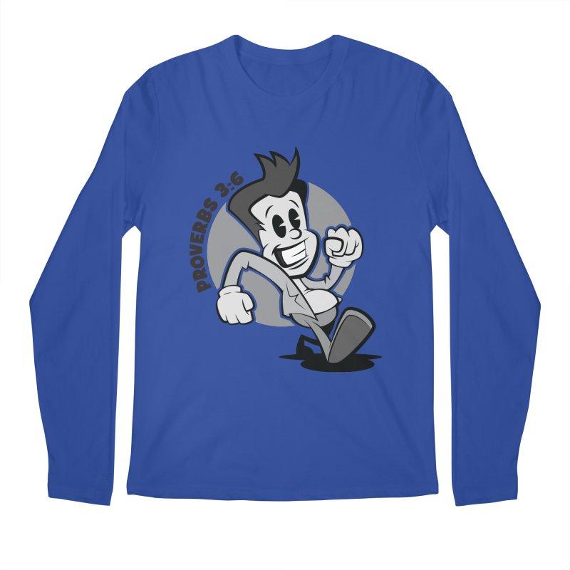 Proverbs 3:6 Man Men's Longsleeve T-Shirt by goofyink's Artist Shop