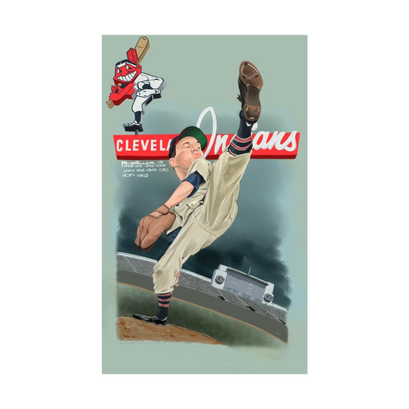Bob Feller MLB HOF Home Shower Curtain by goofyink's Artist Shop