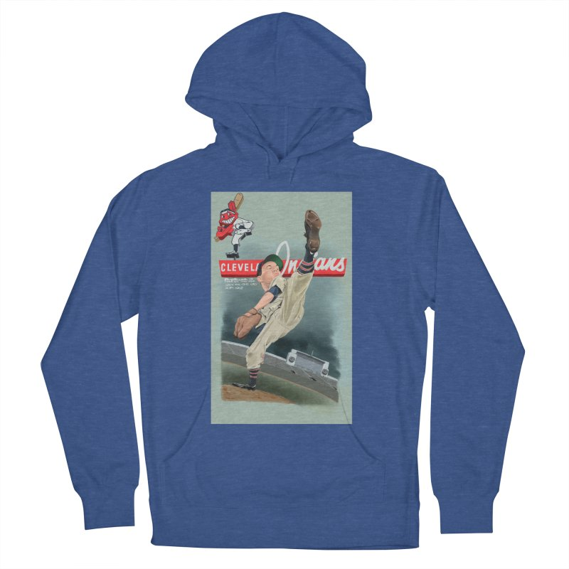 Bob Feller MLB HOF Men's French Terry Pullover Hoody by goofyink's Artist Shop