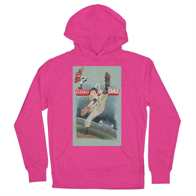 Bob Feller MLB HOF Men's French Terry Pullover Hoody by goofyink's Artist Shop