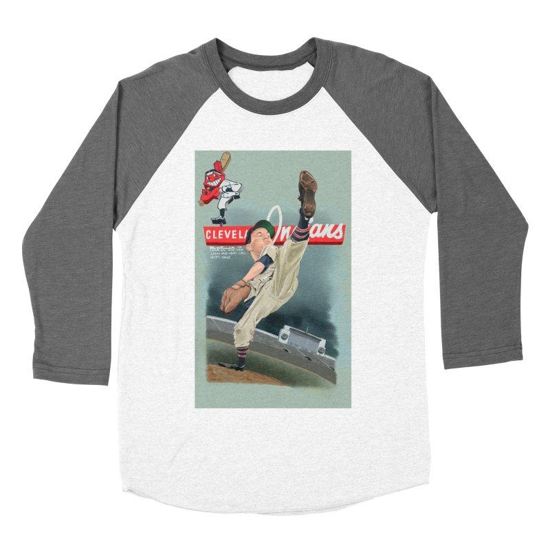 Bob Feller MLB HOF Women's Baseball Triblend Longsleeve T-Shirt by goofyink's Artist Shop