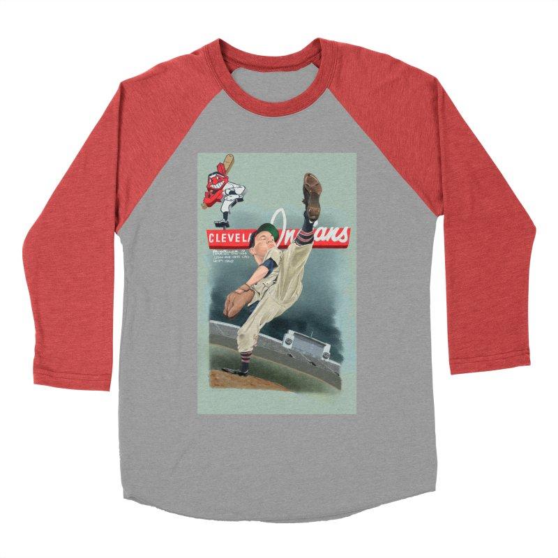 Bob Feller MLB HOF Women's Baseball Triblend T-Shirt by goofyink's Artist Shop