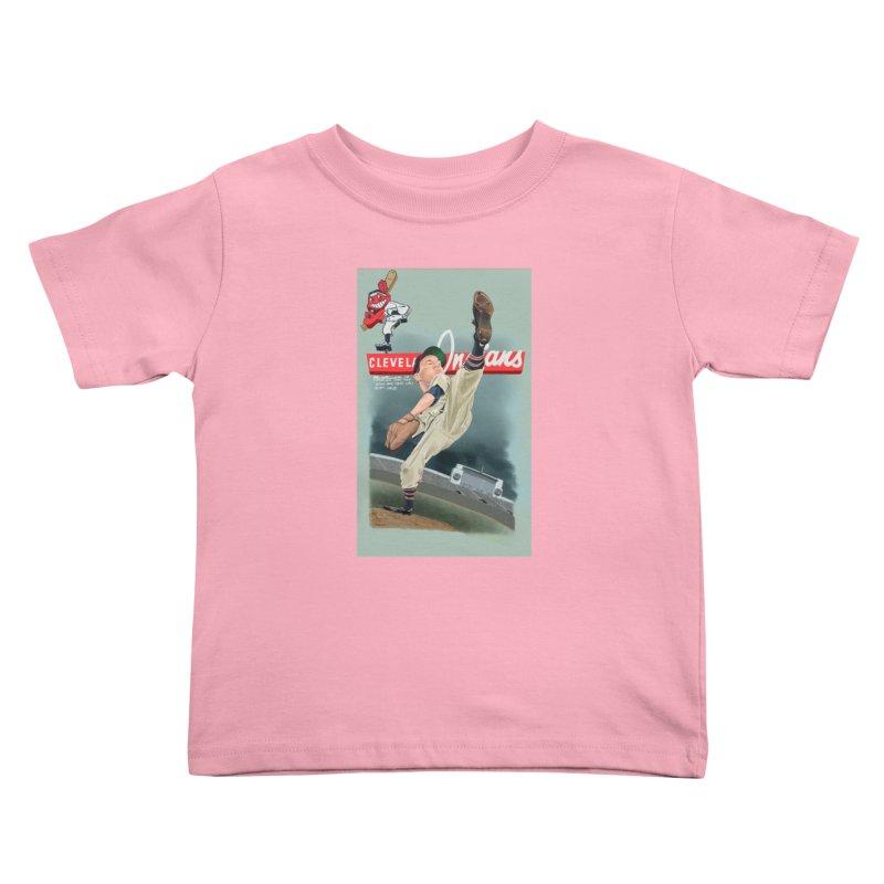 Bob Feller MLB HOF Kids Toddler T-Shirt by goofyink's Artist Shop