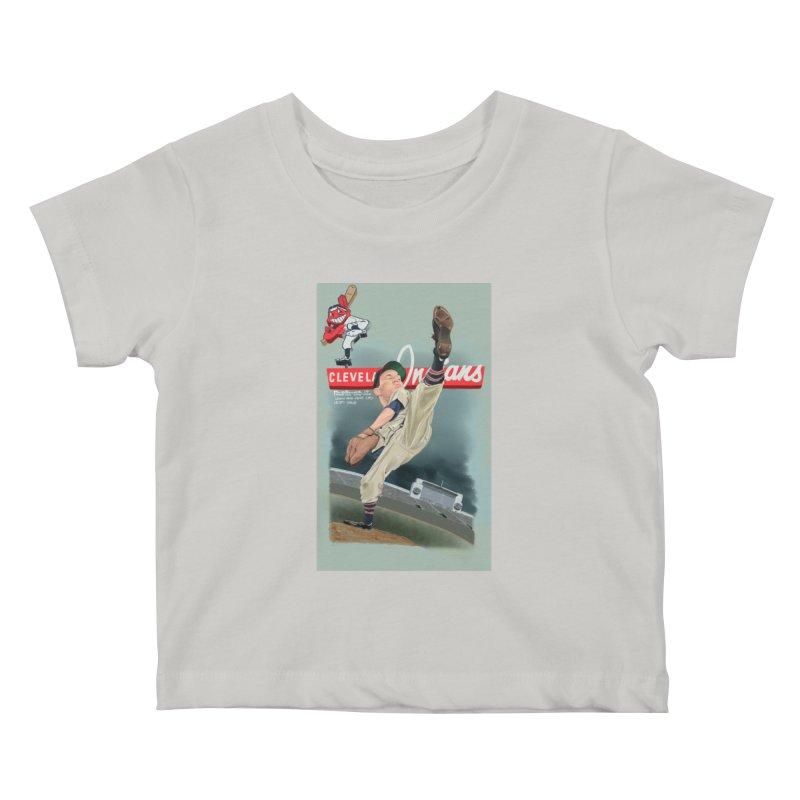 Bob Feller MLB HOF Kids Baby T-Shirt by goofyink's Artist Shop