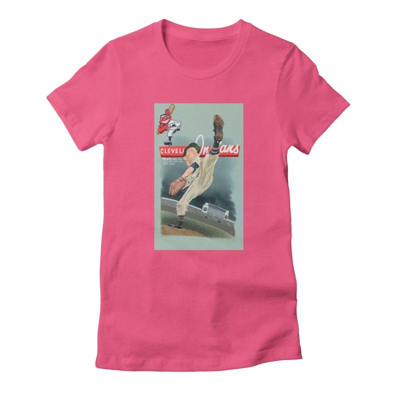 Bob Feller MLB HOF Women's T-Shirt by goofyink's Artist Shop