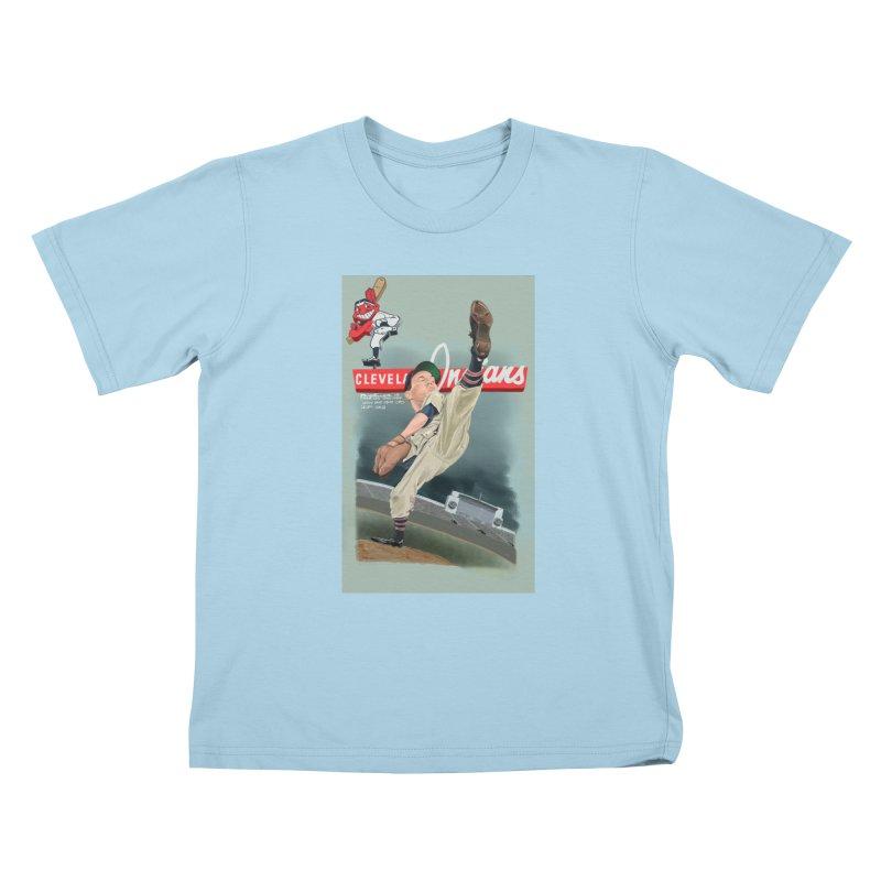 Bob Feller MLB HOF Kids T-Shirt by goofyink's Artist Shop