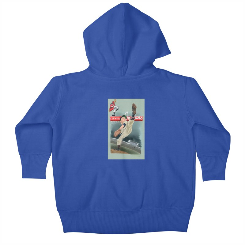 Bob Feller MLB HOF Kids Baby Zip-Up Hoody by goofyink's Artist Shop