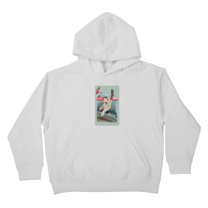 Bob Feller MLB HOF Kids Pullover Hoody by goofyink's Artist Shop