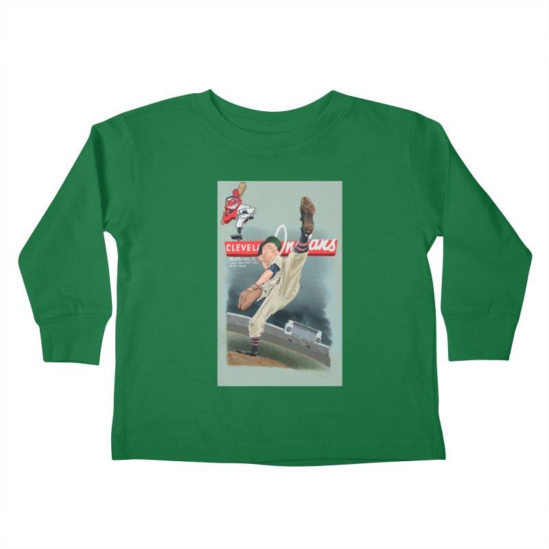 Bob Feller MLB HOF Kids Toddler Longsleeve T-Shirt by goofyink's Artist Shop
