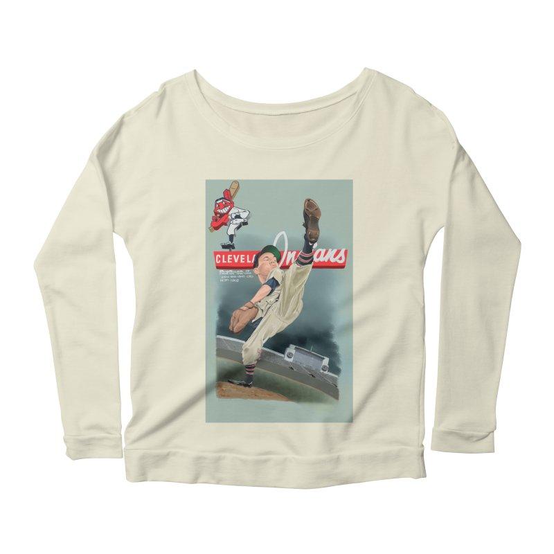 Bob Feller MLB HOF Women's Longsleeve Scoopneck  by goofyink's Artist Shop