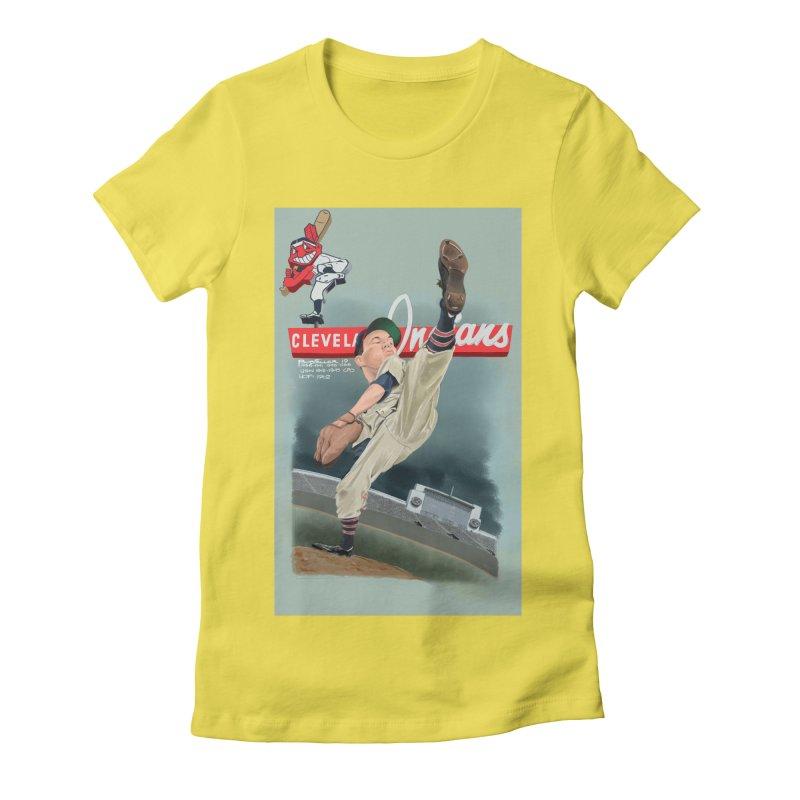 Bob Feller MLB HOF Women's Fitted T-Shirt by goofyink's Artist Shop