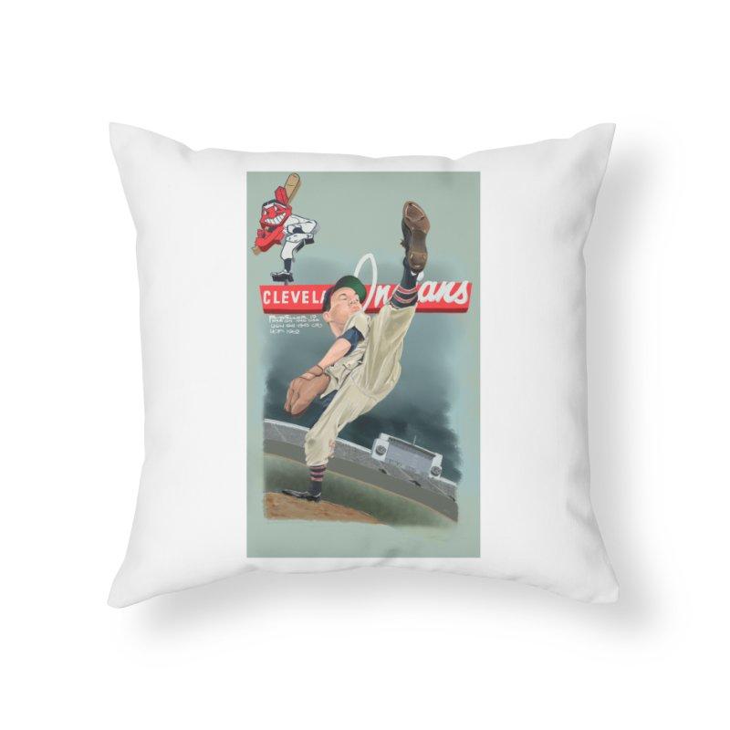 Bob Feller MLB HOF Home Throw Pillow by goofyink's Artist Shop