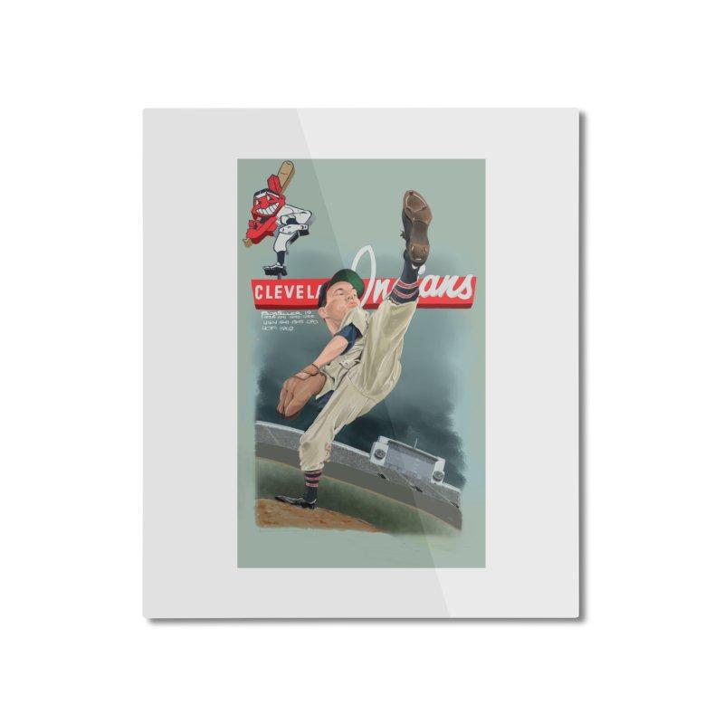 Bob Feller MLB HOF Home Mounted Aluminum Print by goofyink's Artist Shop