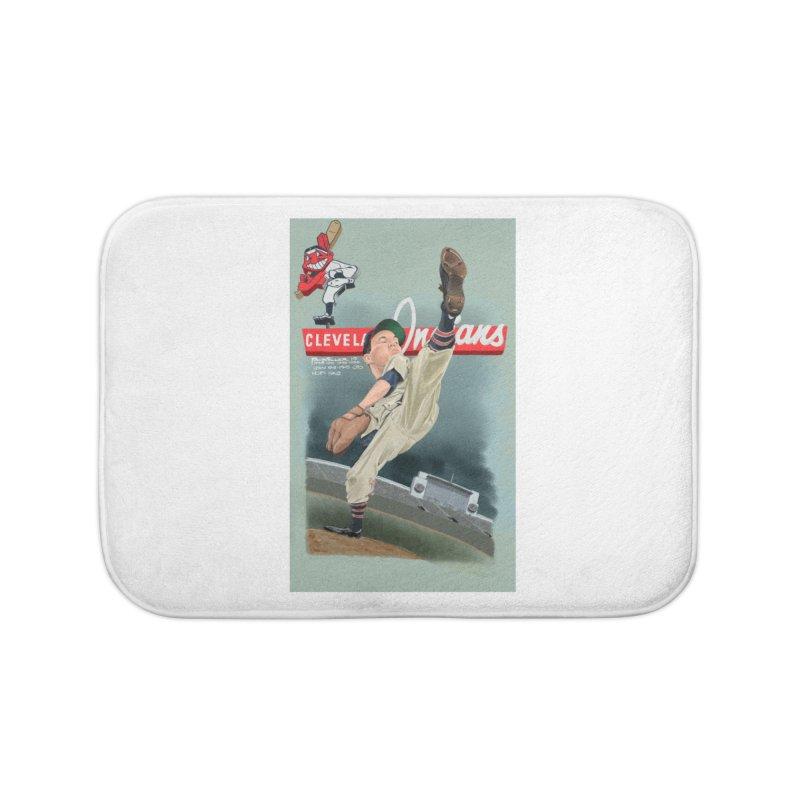 Bob Feller MLB HOF Home Bath Mat by goofyink's Artist Shop