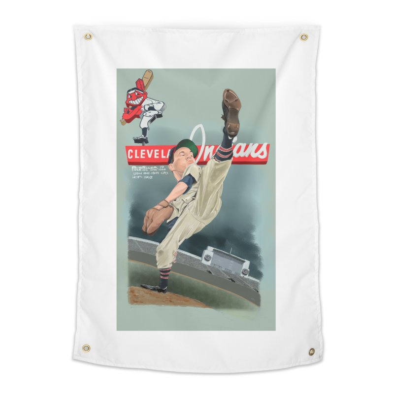 Bob Feller MLB HOF Home Tapestry by goofyink's Artist Shop