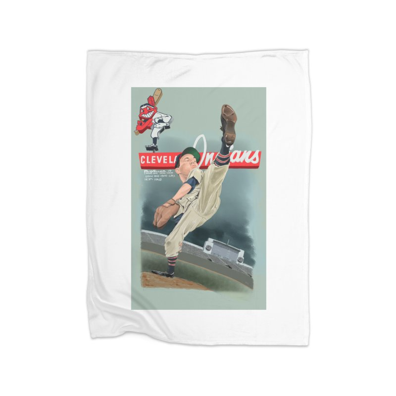 Bob Feller MLB HOF Home Blanket by goofyink's Artist Shop