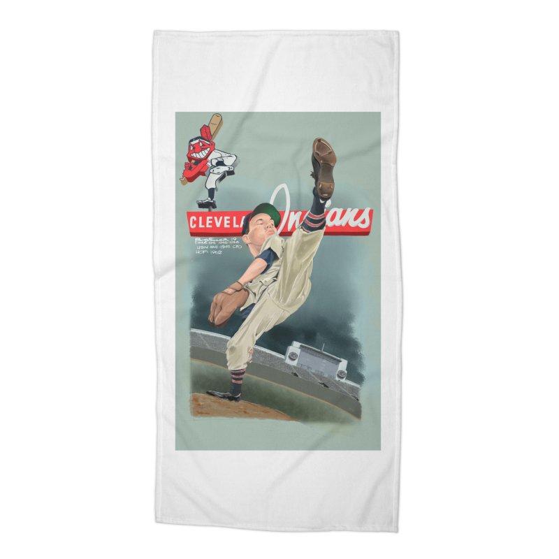 Bob Feller MLB HOF Accessories Beach Towel by goofyink's Artist Shop